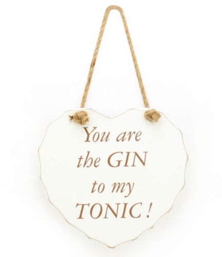 GIN TO MY TONIC PLAQUE